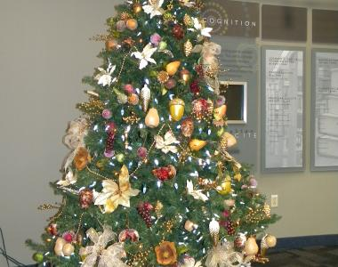 Holiday Tree at Westlake Porter Public Library